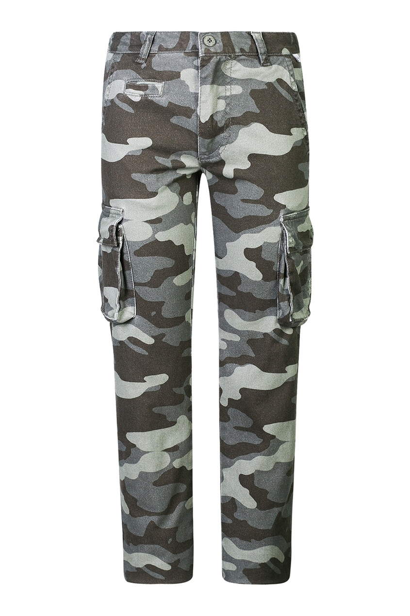 Карго-брюки с камуфляжным принтом