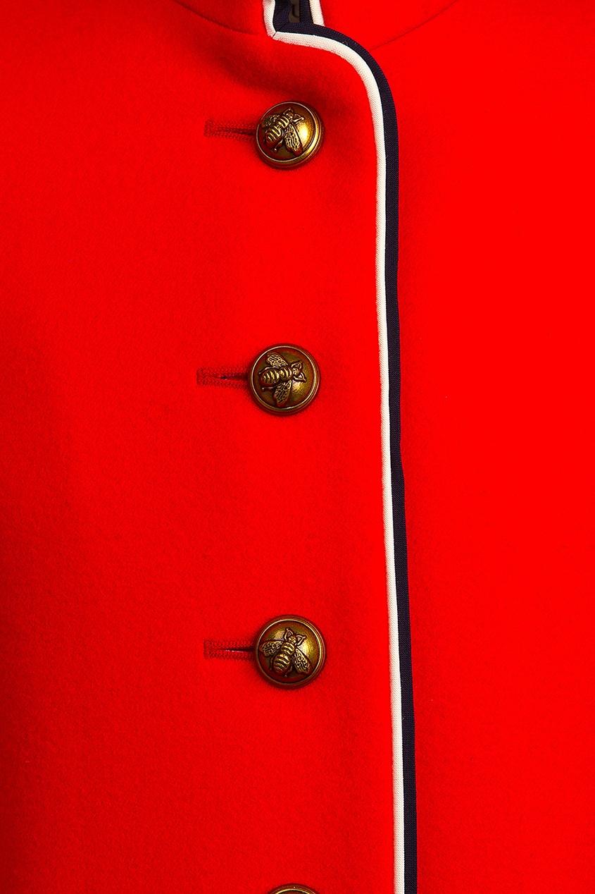 Gucci Children Однобортное красное пальто рюкзак picard 9809 113 055 cafe