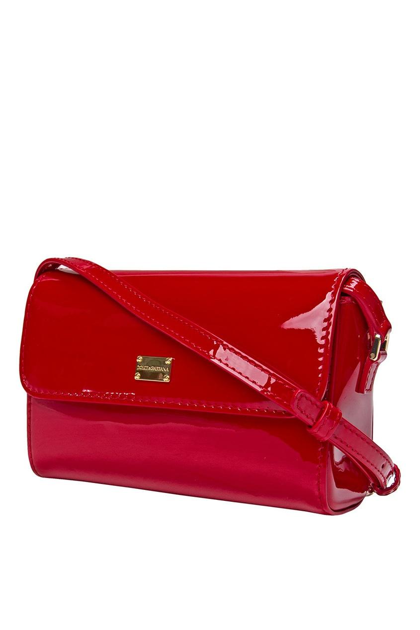 Dolce&Gabbana Children Красная лакированная сумка сумка dolce gabbana tara dolce