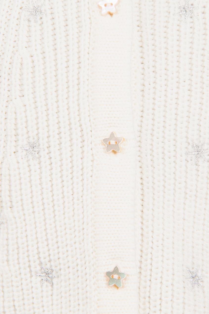 Вязаный кардиган с вышивкой от Dior Kids