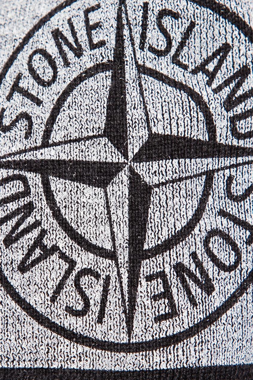 цена Stone Island Children Шапка с помпоном и логотипом онлайн в 2017 году