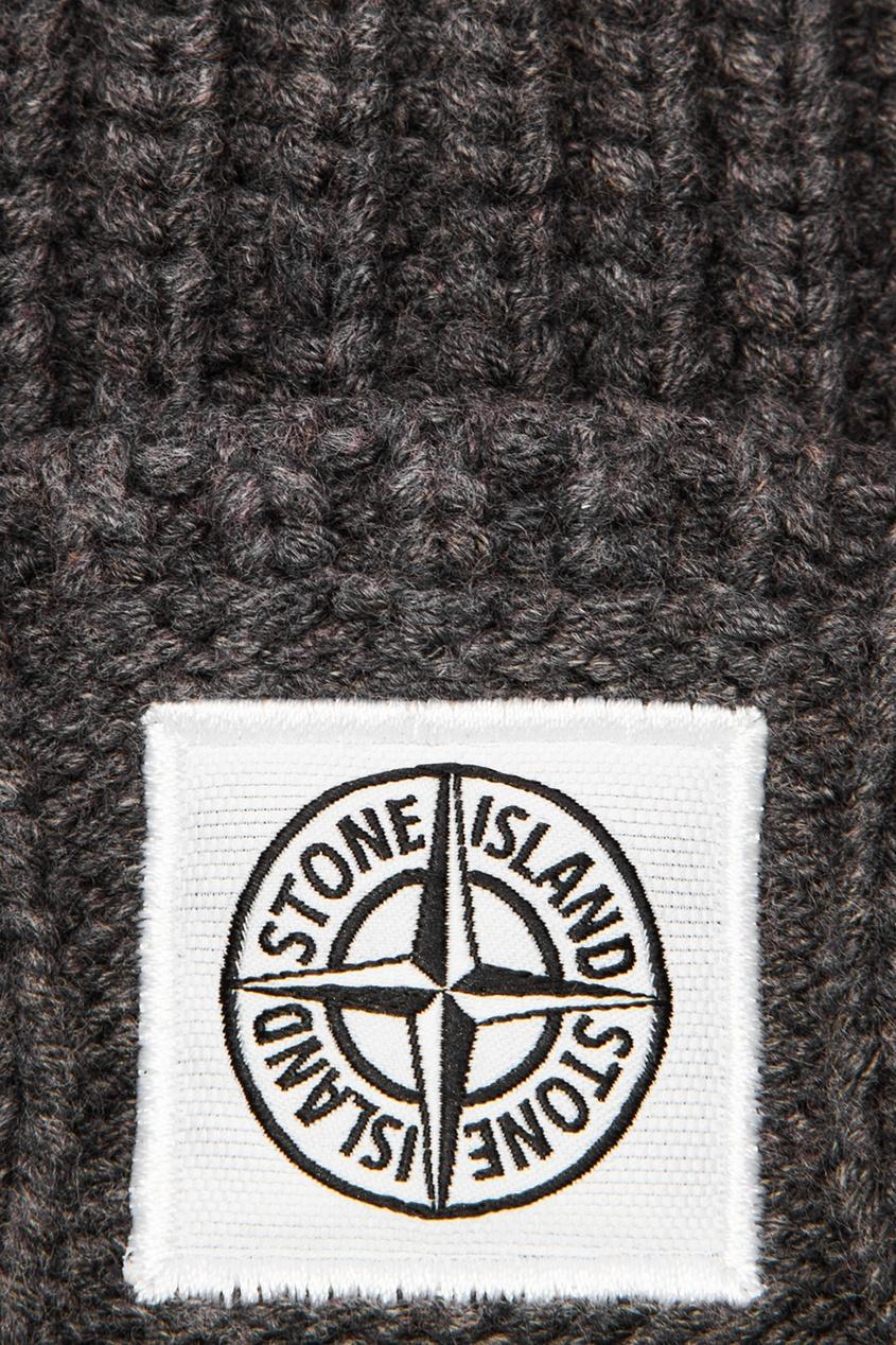 цена Stone Island Children Фактурная шапка-бини онлайн в 2017 году