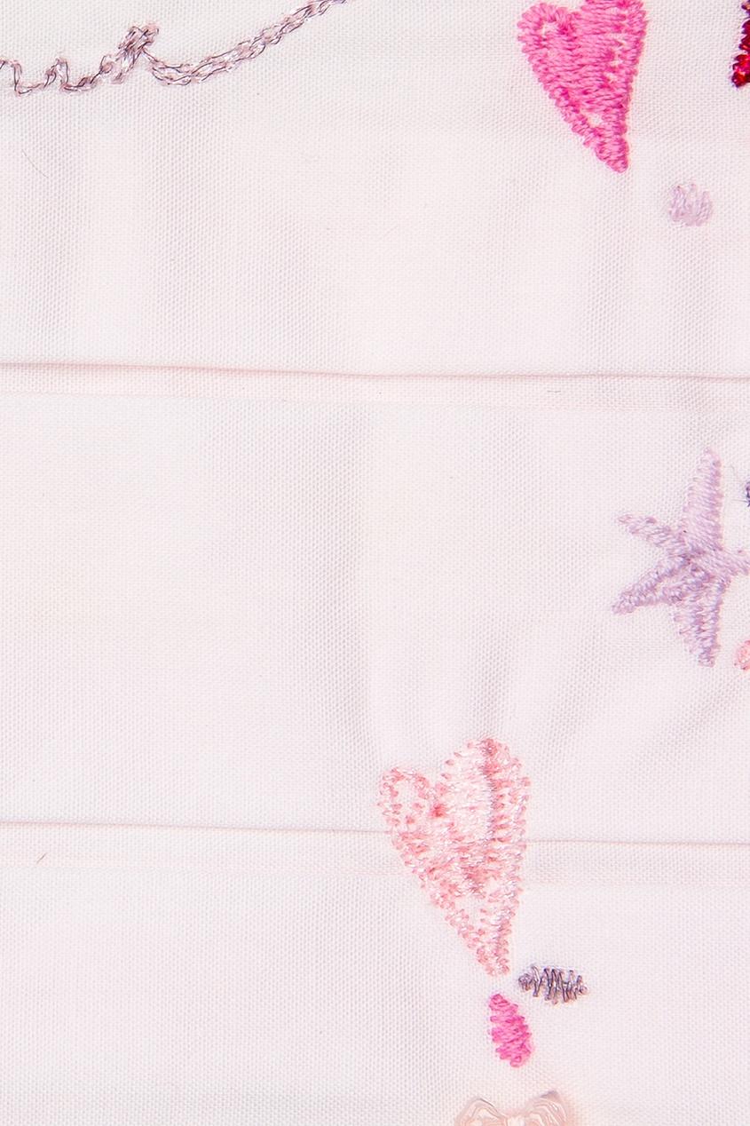 Dior Children Хлопковый нагрудник с вышивкой dior