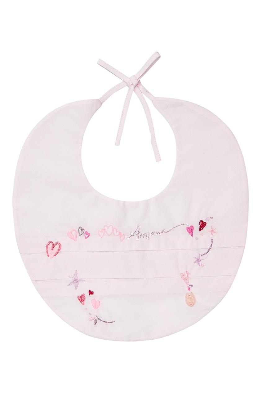 Dior Children Хлопковый нагрудник с вышивкой dior children хлопковый комбинезон