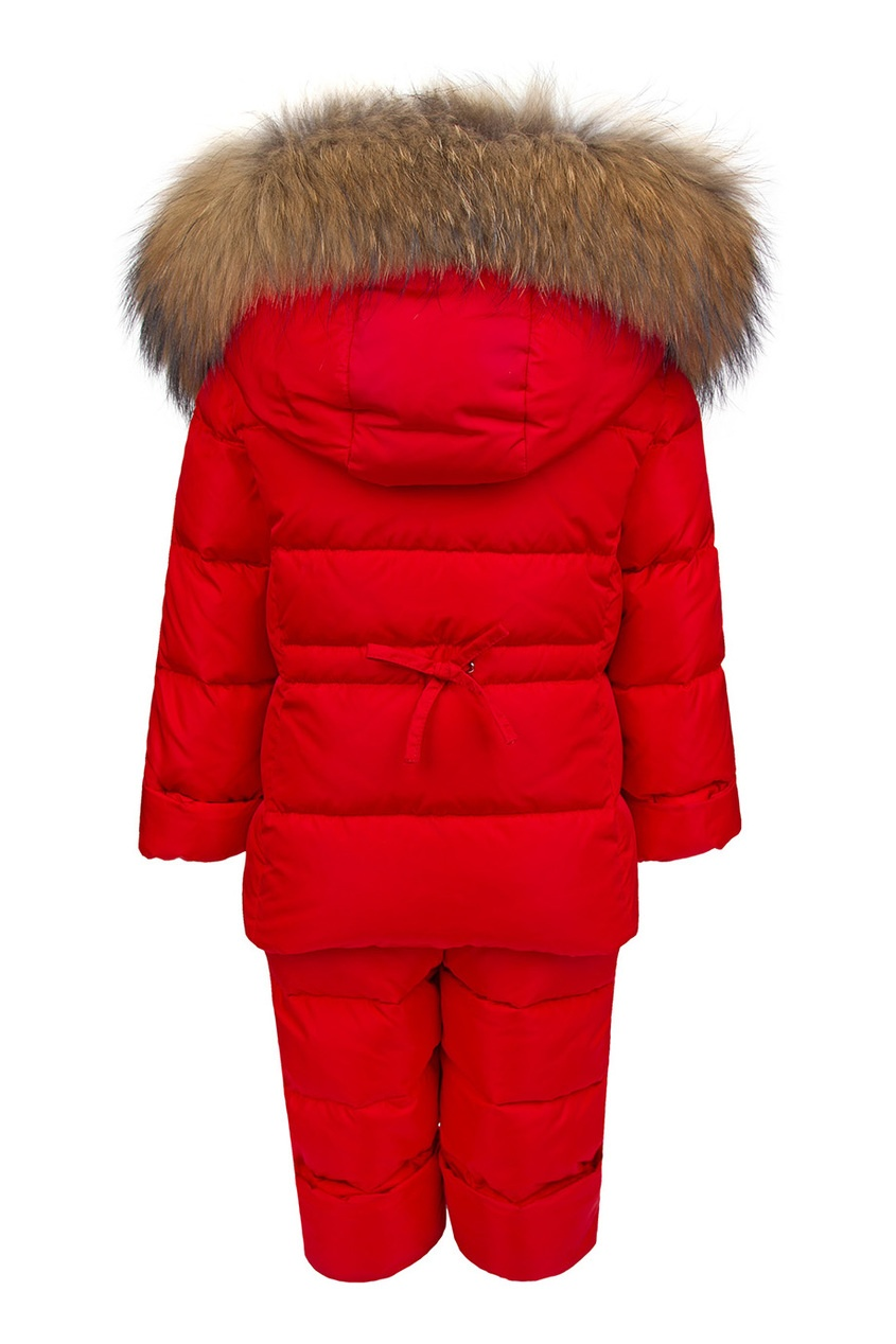 il Gufo Зимний костюм с меховой отделкой костюм зимний лесси с пингвинами