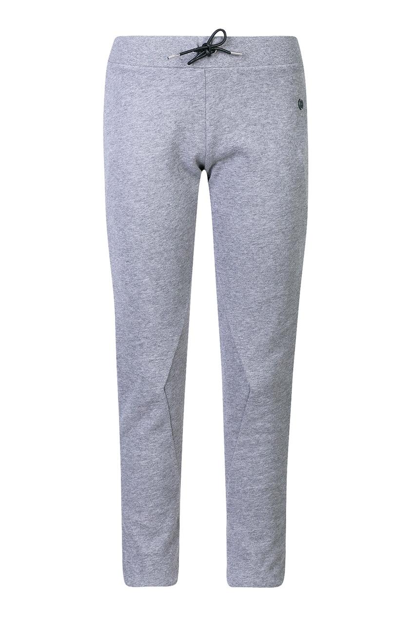 Купить Меланжевые брюки в спортивном стиле от Dior Kids серого цвета