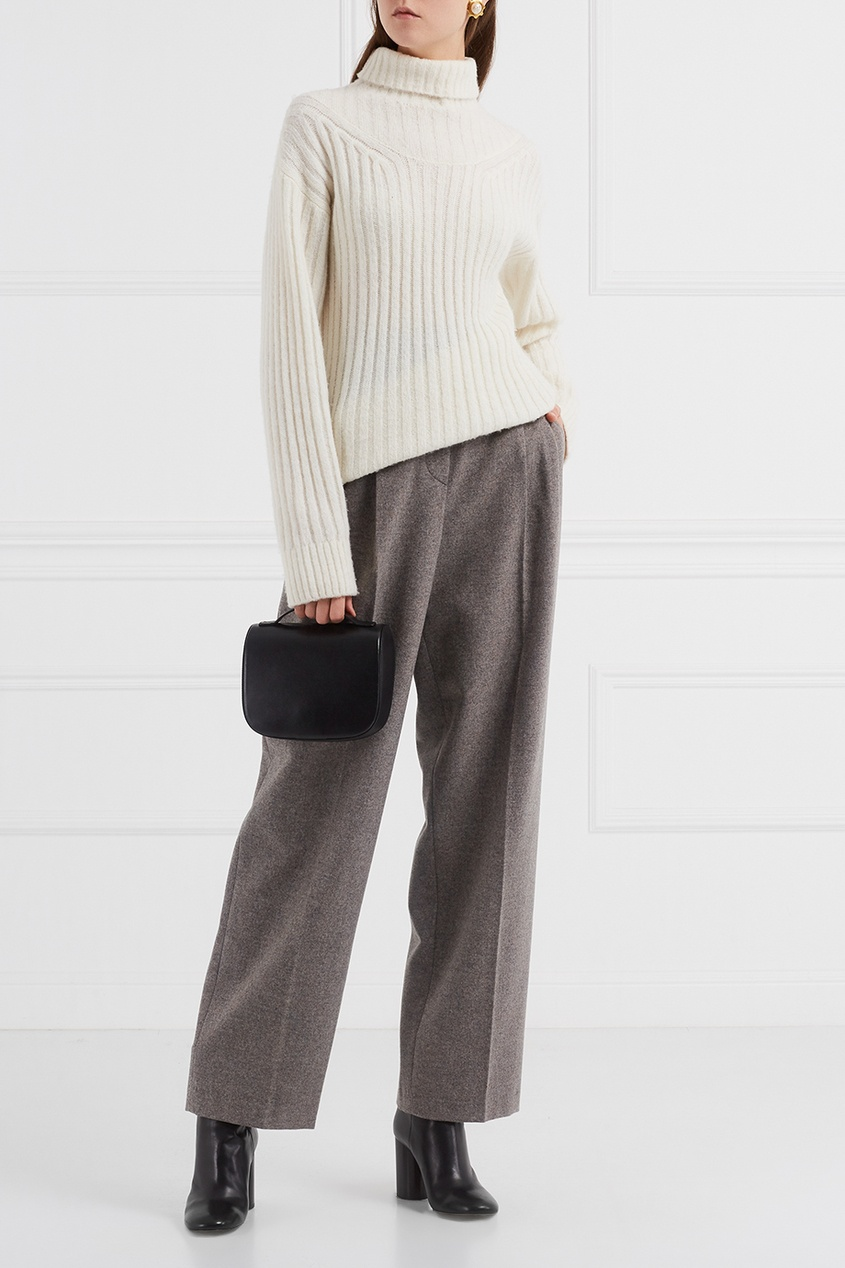 andrea polizzi vintage платье 1990 е Giorgio Armani Vintage Шерстяные меланжевые брюки (1990-е)