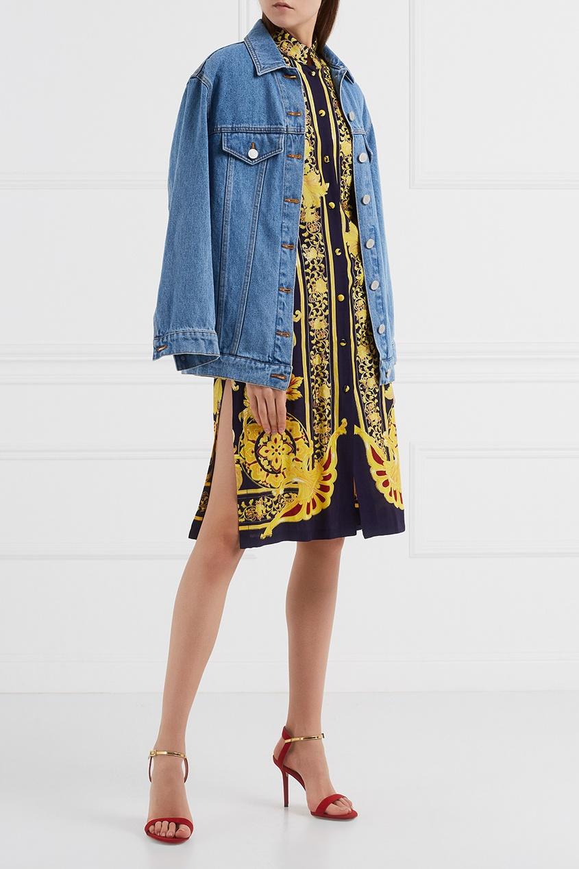 Винтажное платье с принтом (1990-е)