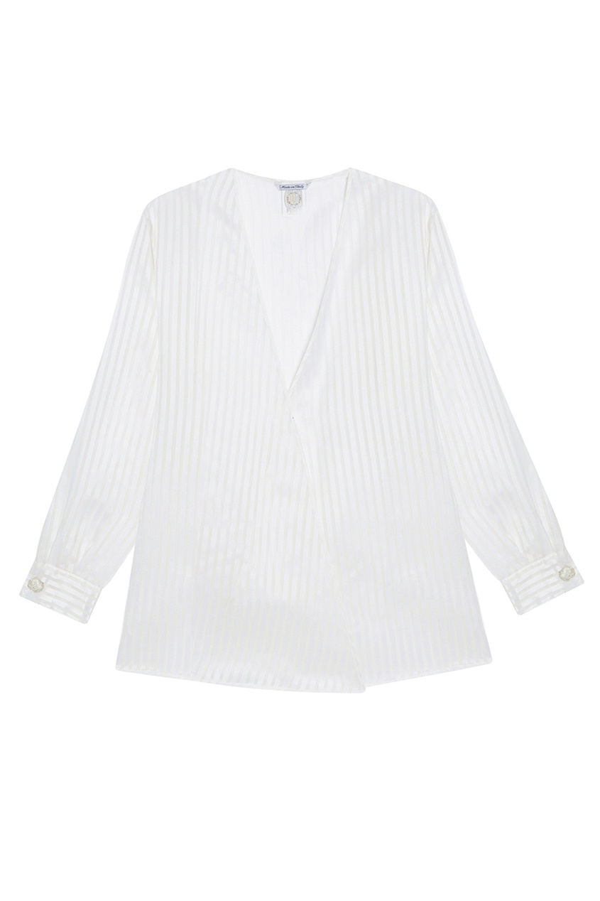 Блузка из шелка в полоску (1990-е)