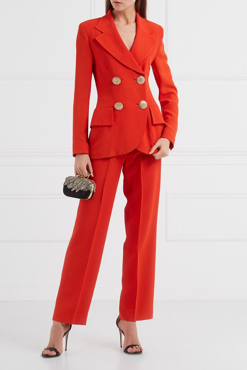 Красный костюм с брюками