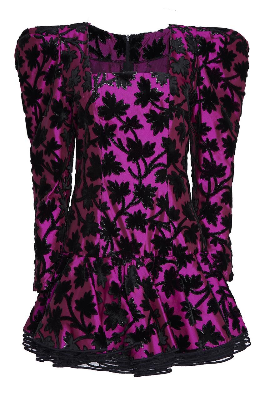 Ted Lapidus Vintage Мини-платье с воланом по низу (1980-е)