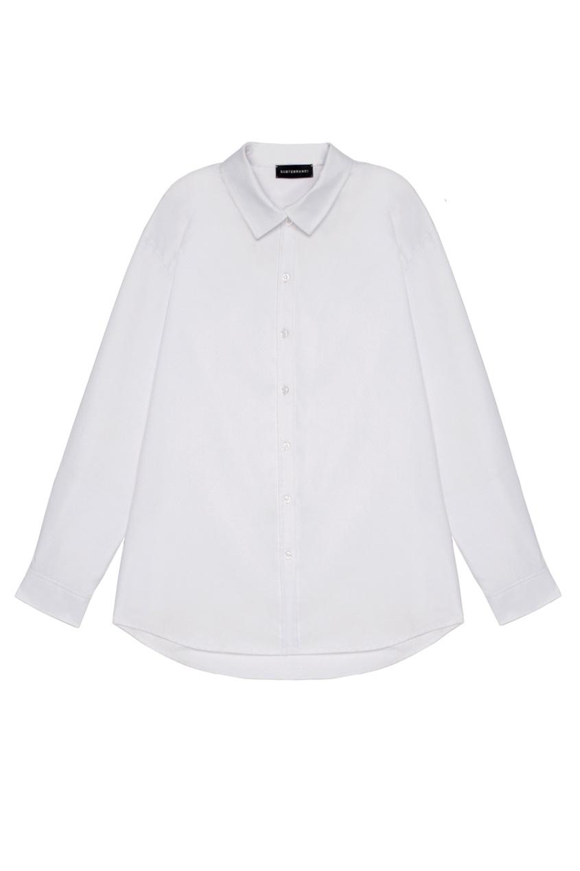 SUBTERRANEI Белая рубашка из хлопка рубашка белая ido ут 00015956