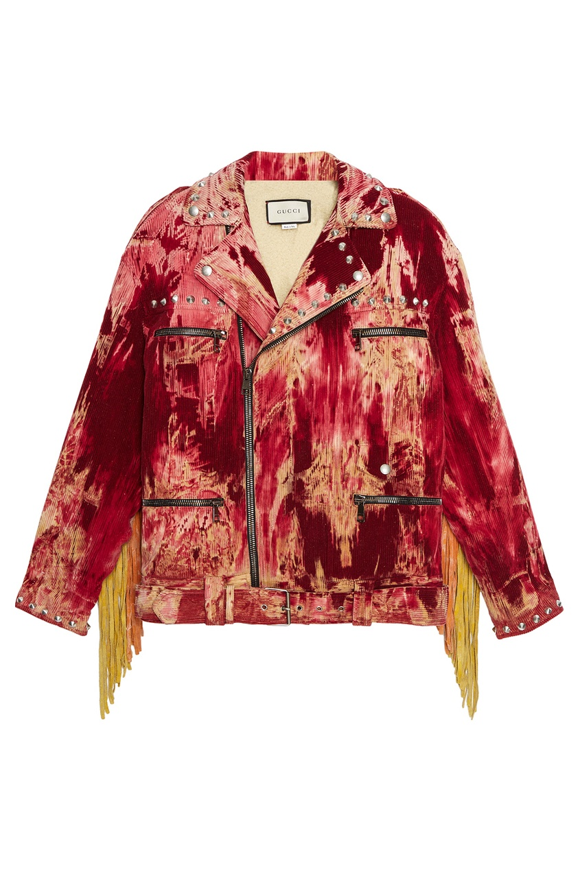 Gucci Вельветовая куртка-косуха rnt23 темно синяя вельветовая куртка