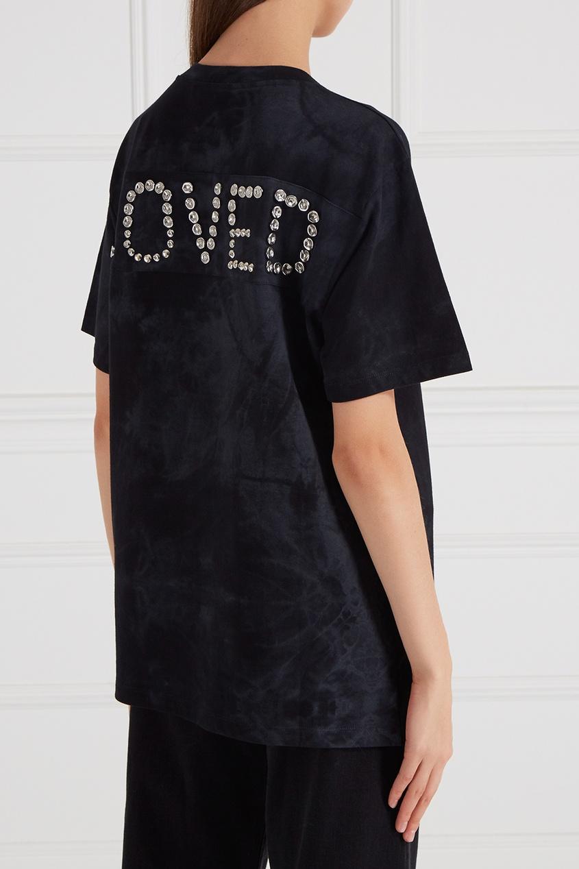 Gucci Футболка из «вареного» хлопка футболка из хлопка с эффектом фламме