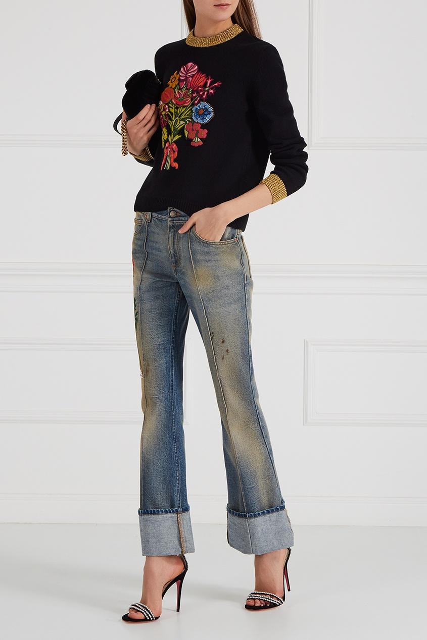 Gucci Кожаные босоножки с кристаллами цены онлайн
