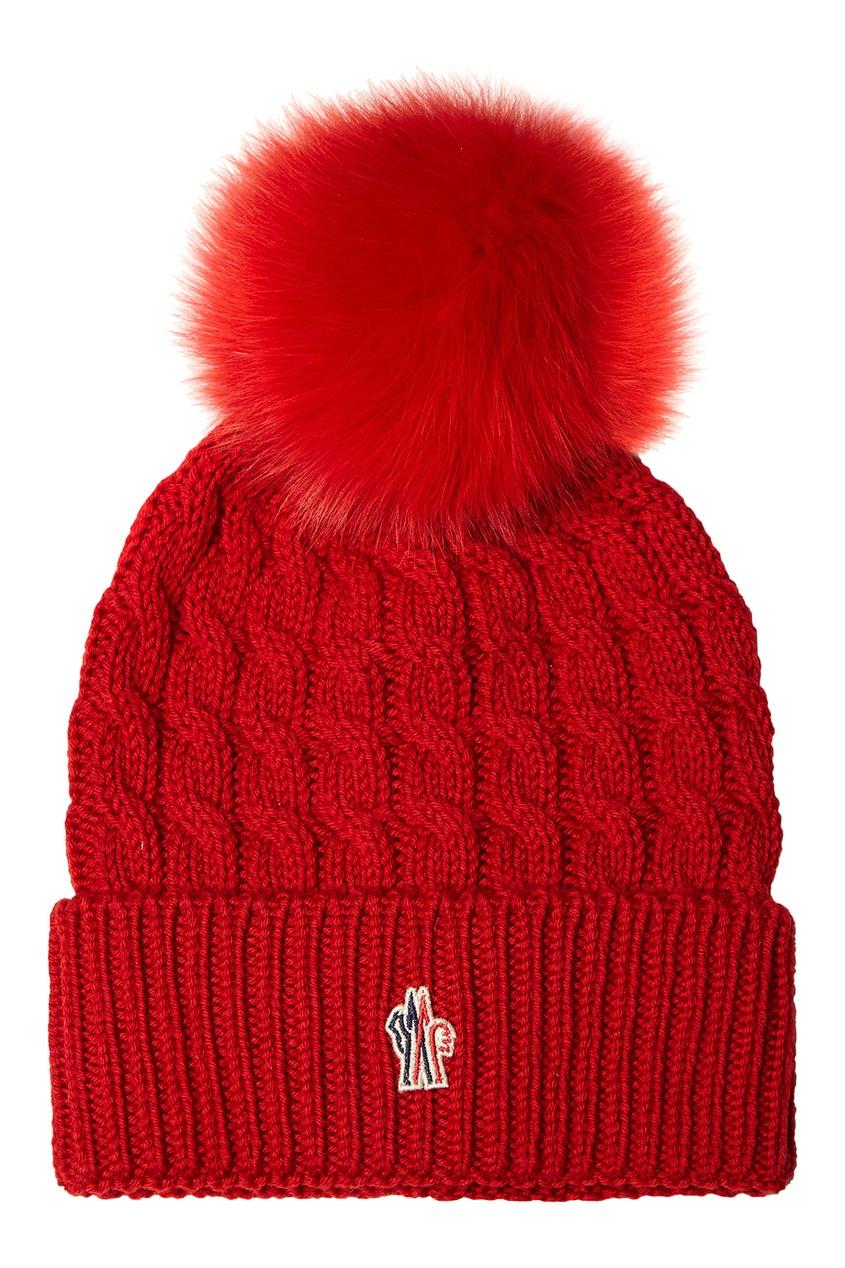 Moncler Шапка с косами красная сине красная шапка клоуна uni