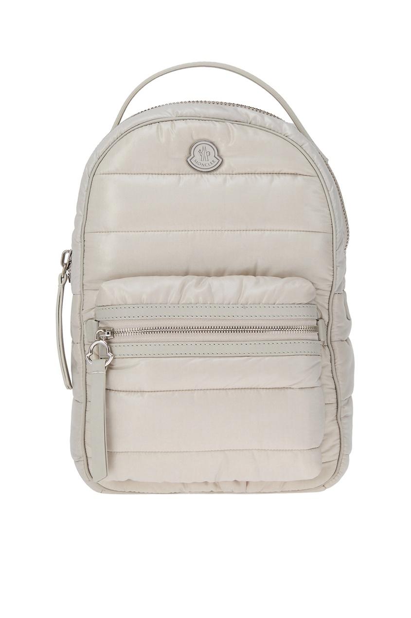 Стеганый рюкзак бежевый New Georgette