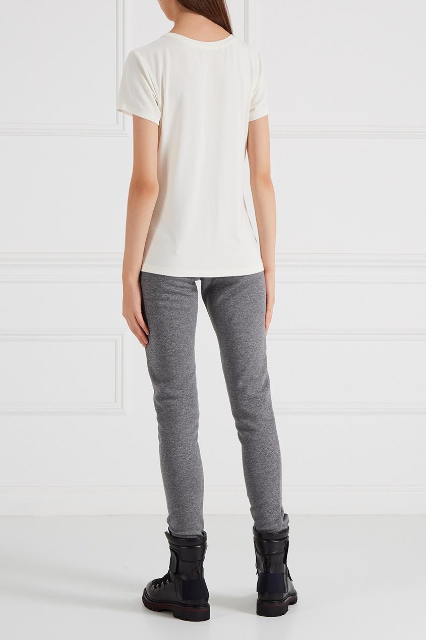 Moncler Меланжевые брюки moncler 365311