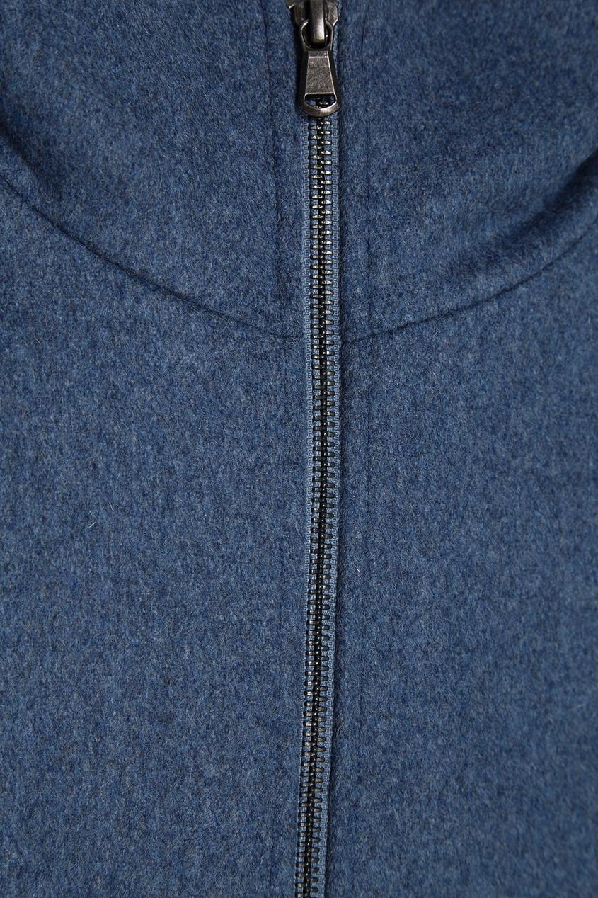 Paul & Joe Sister Шерстяное пальто с капюшоном пальто двухцветное с твидовым эффектом с капюшоном