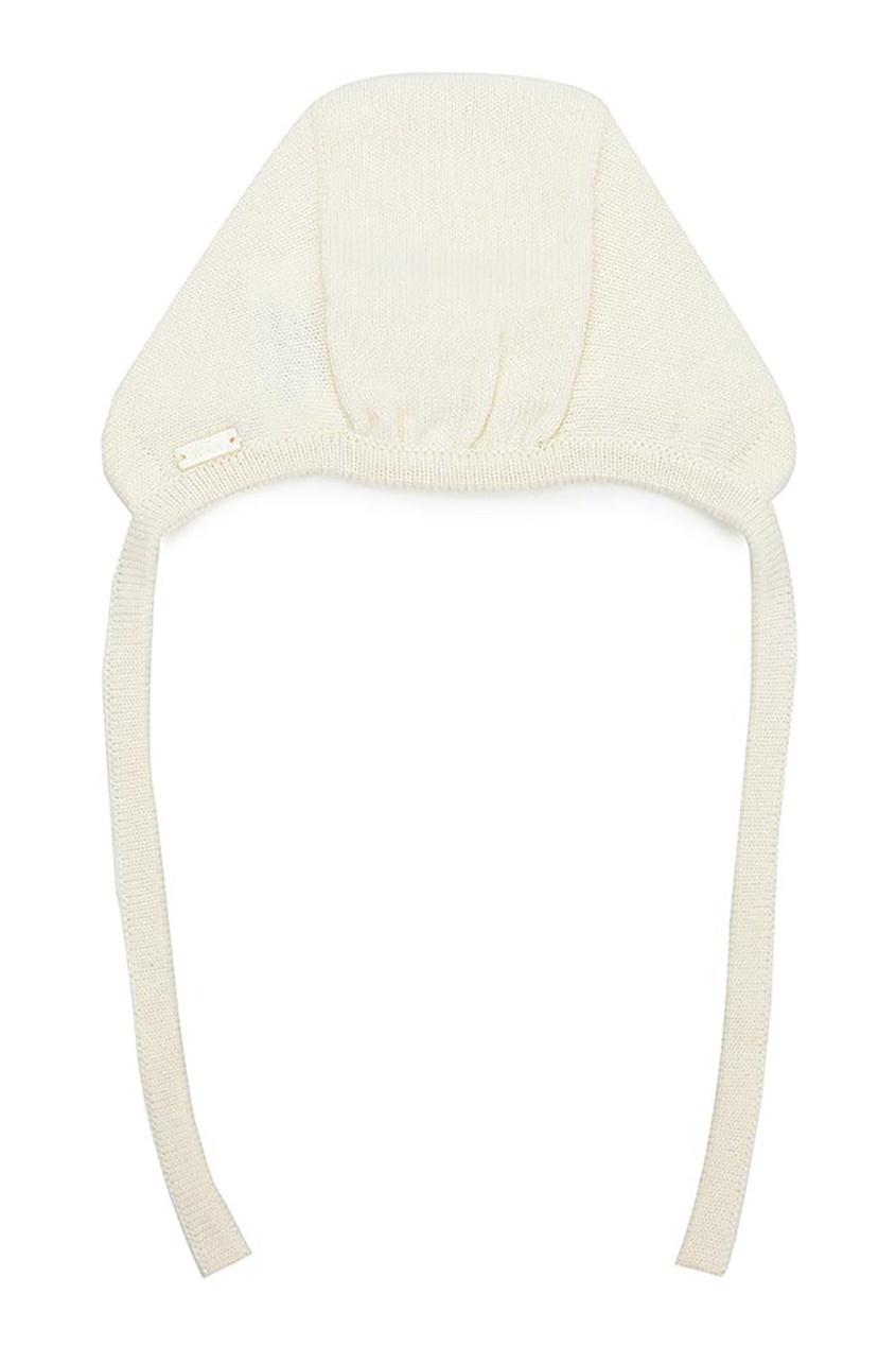 Miacompany Трикотажный чепчик белого цвета монитор белого цвета