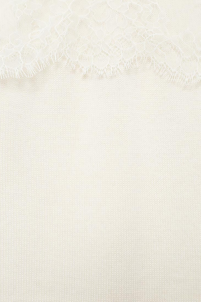 Белый комбинезон с кружевом