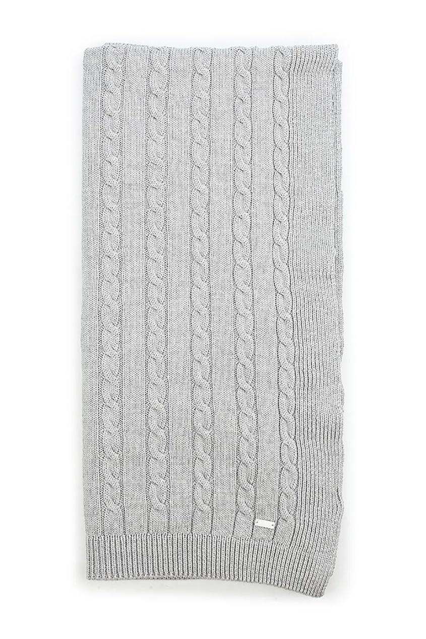 Miacompany Шерстяной плед серый плед серый woolann ут 00015151