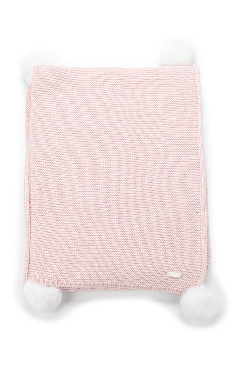 Плед из шерсти и кашемира розовый