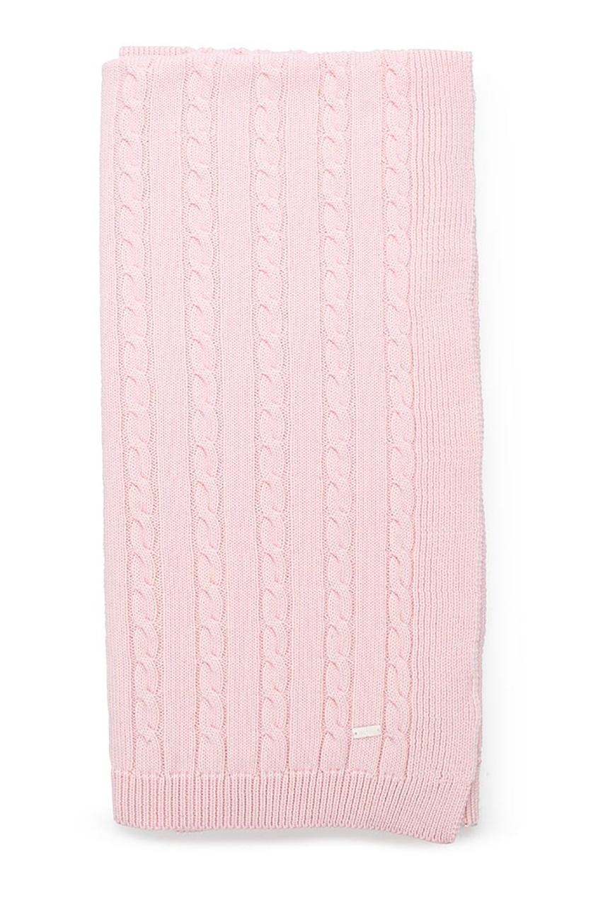 Шерстяной плед розовый