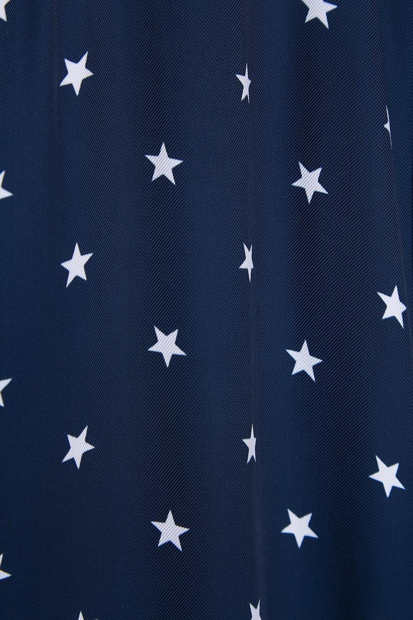 Nina Ricci Синее платье-рубашка со звездами nina ricci платье nina ricci 26687 черный