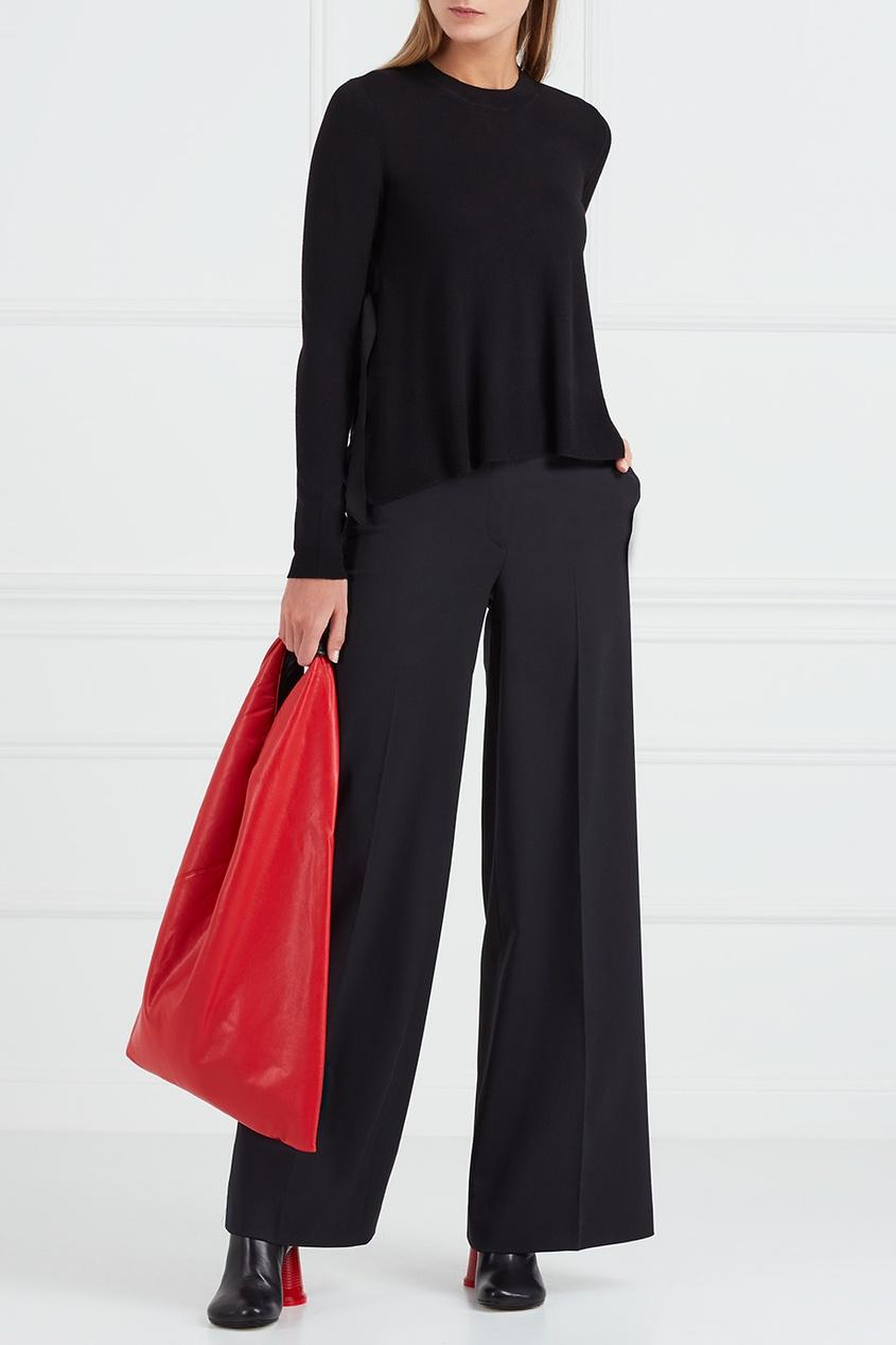 Купить со скидкой Однотонная красная сумка-хобо