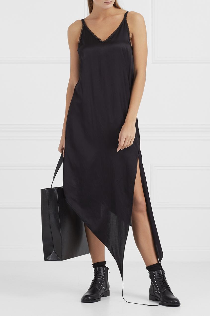 MM6 Maison Margiela Асимметричное платье-комбинация anais gillian комбинация