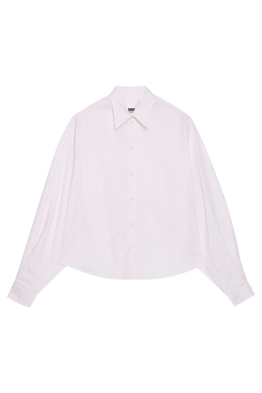 Хлопковая рубашка розовая
