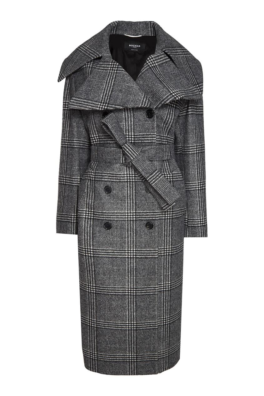Rochas Шерстяное пальто в клетку msgm двубортное пальто в клетку