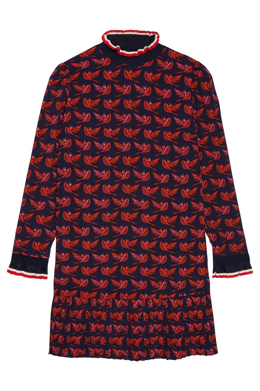 Платье с плиссированной отделкой