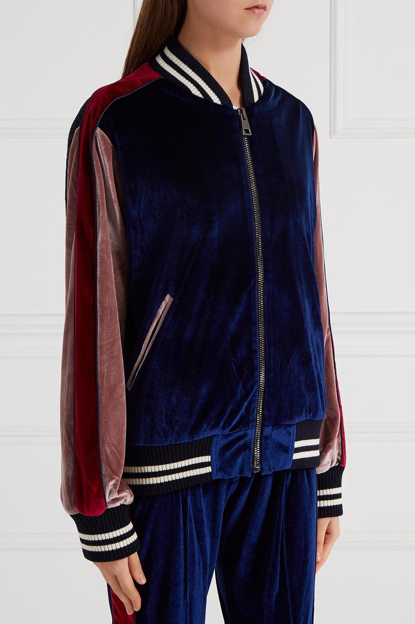 топ forte couture forte couture fo016ewprp62 Forte Couture Бомбер из комбинированного бархата