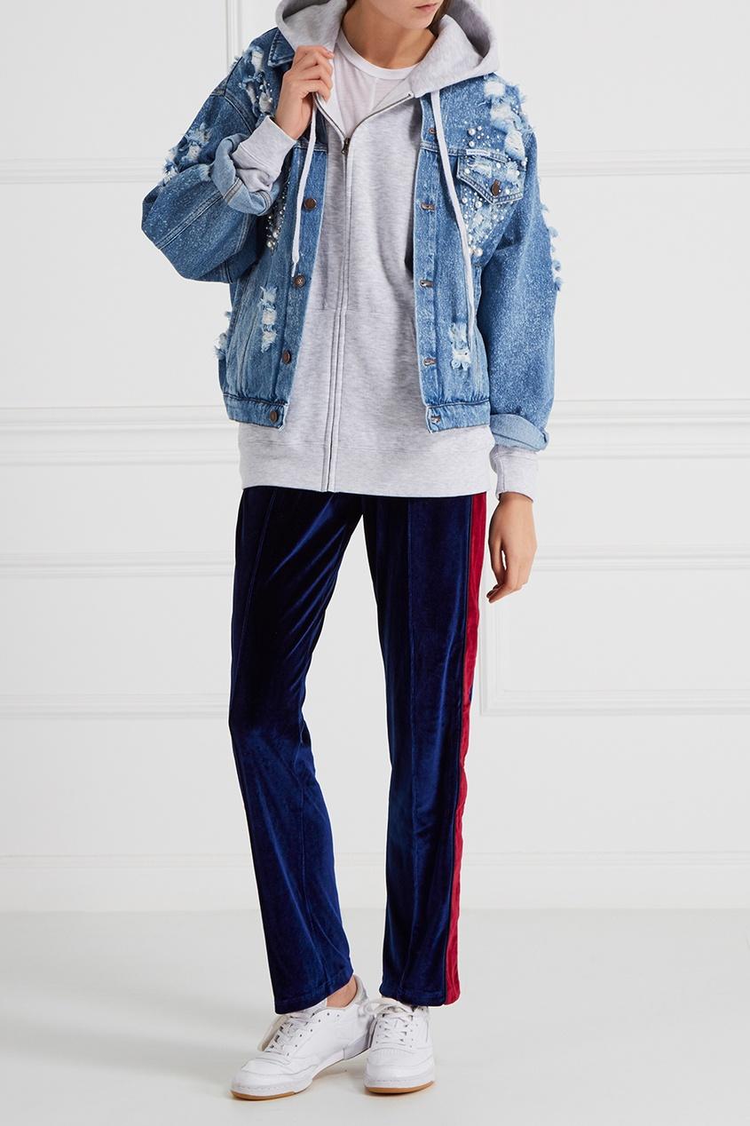 Forte Couture Джинсовая куртка с бусинами каталог forte