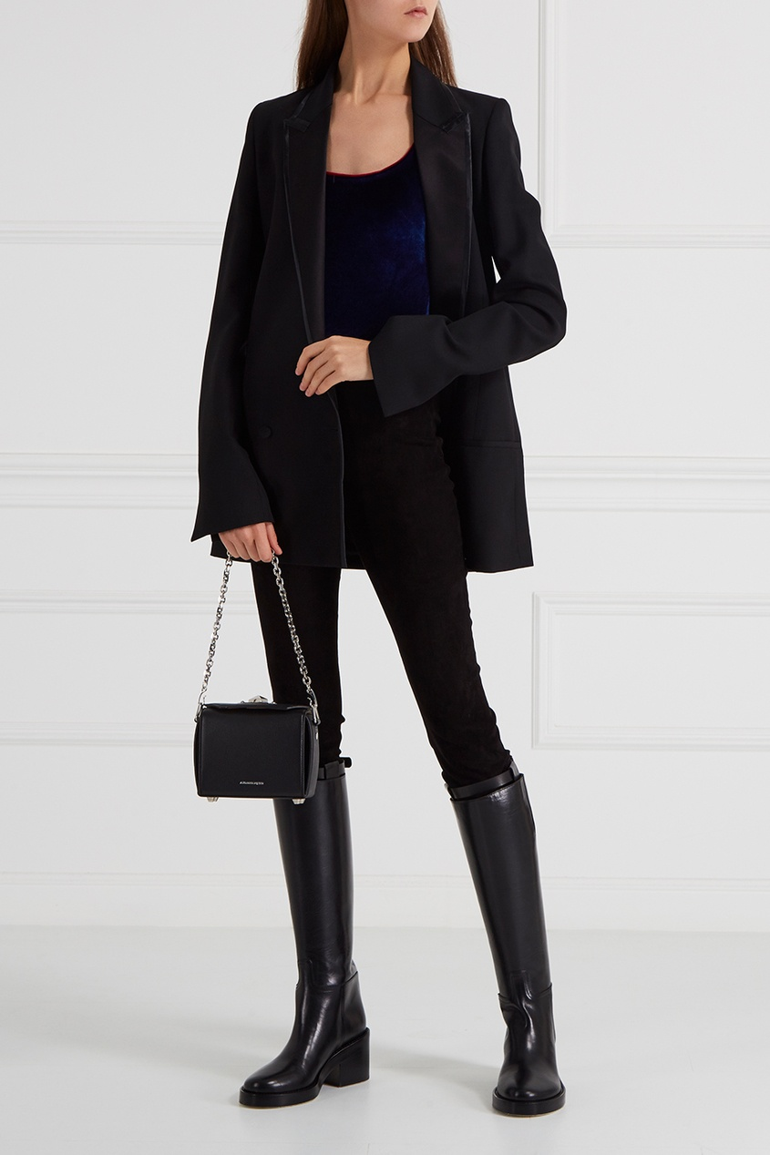топ forte couture forte couture fo016ewprp62 Forte Couture Бархатное боди синее