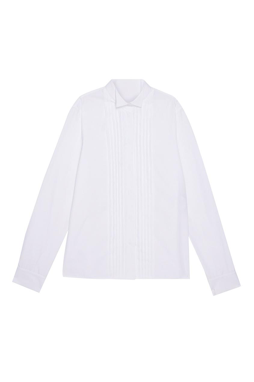 Купить со скидкой Хлопковая блузка со складками