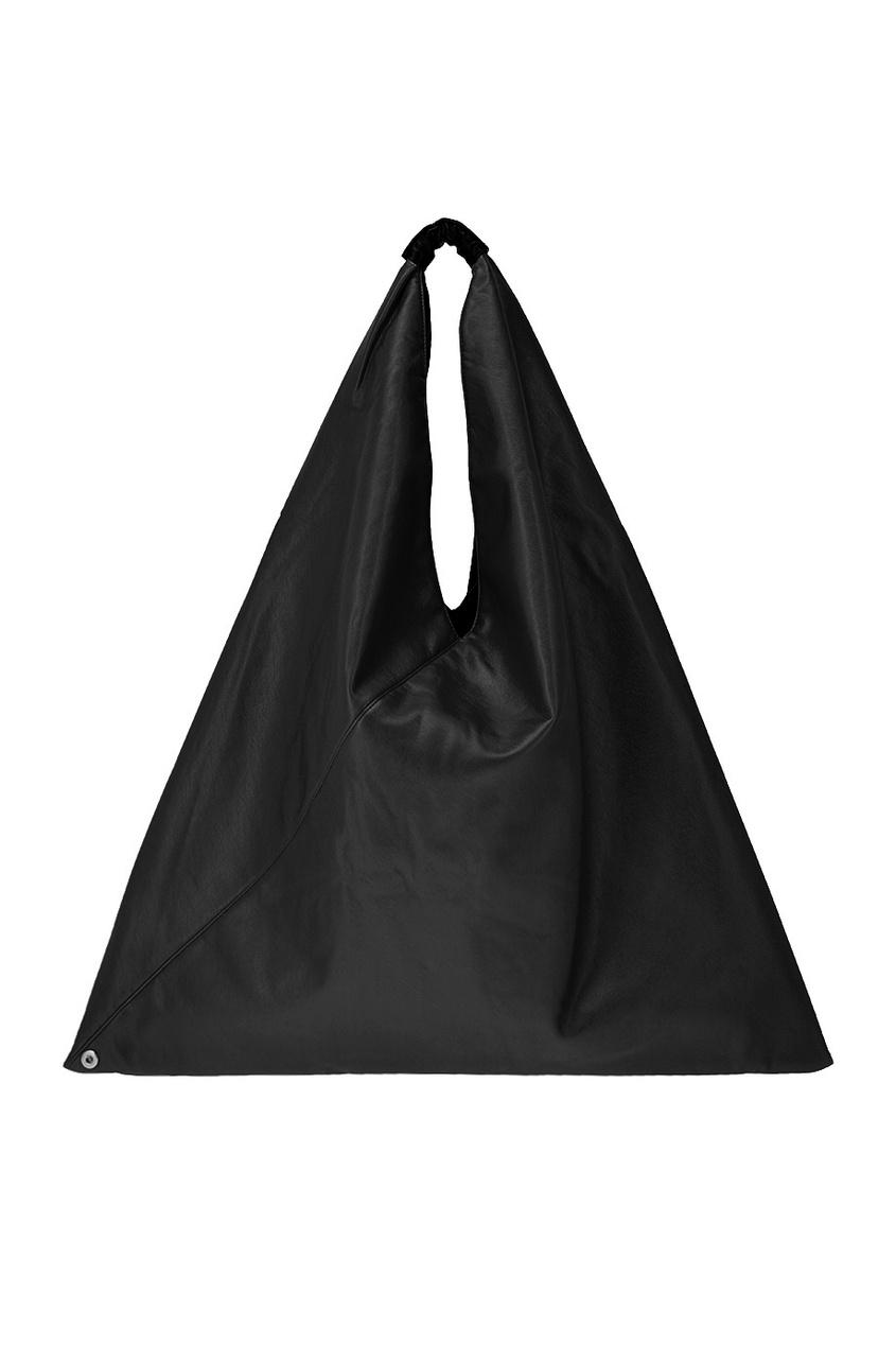 Купить со скидкой Однотонная черная сумка-хобо