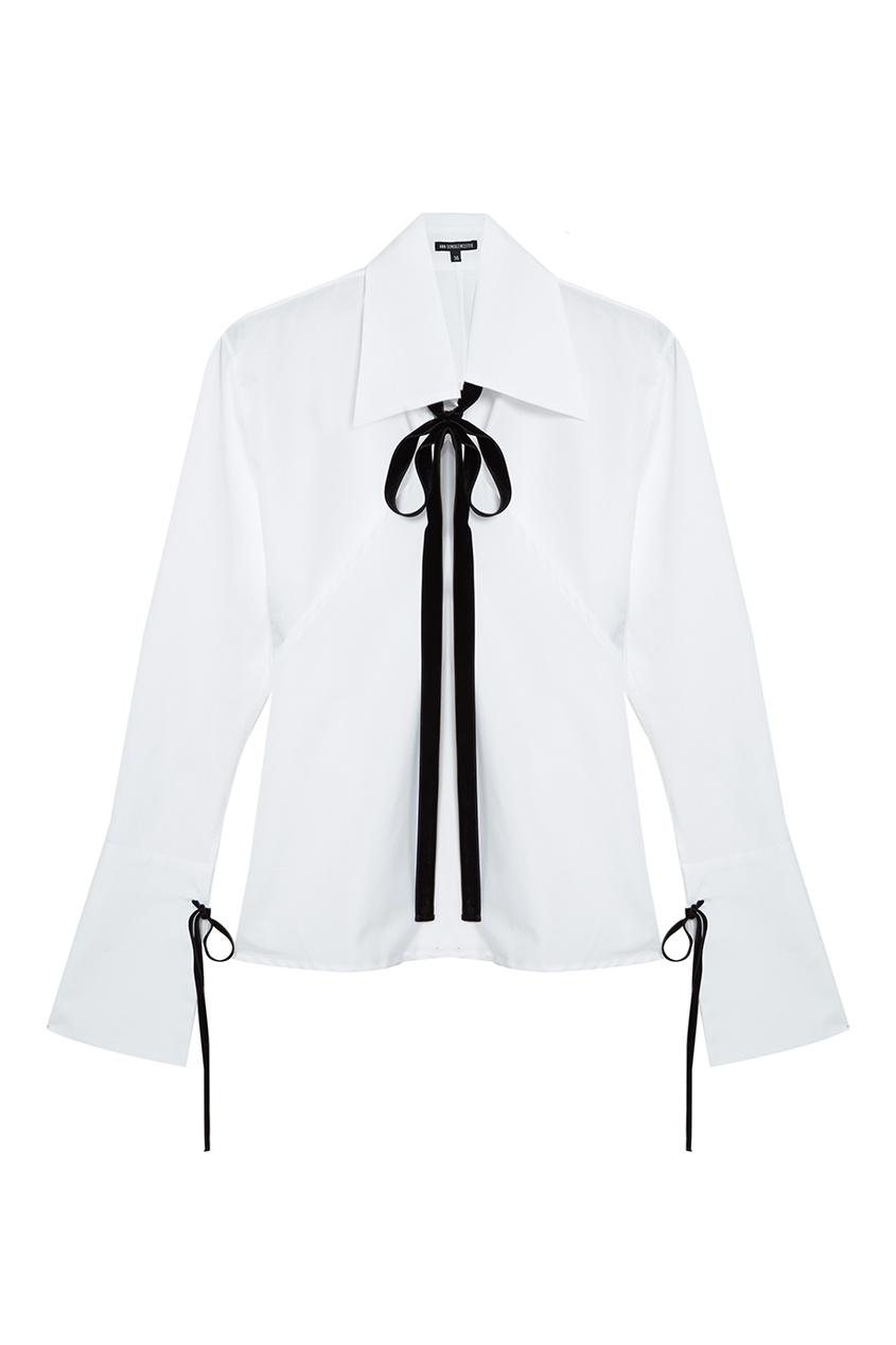 Ann Demeulemeester Хлопковая блузка с завязками ann demeulemeester шарф