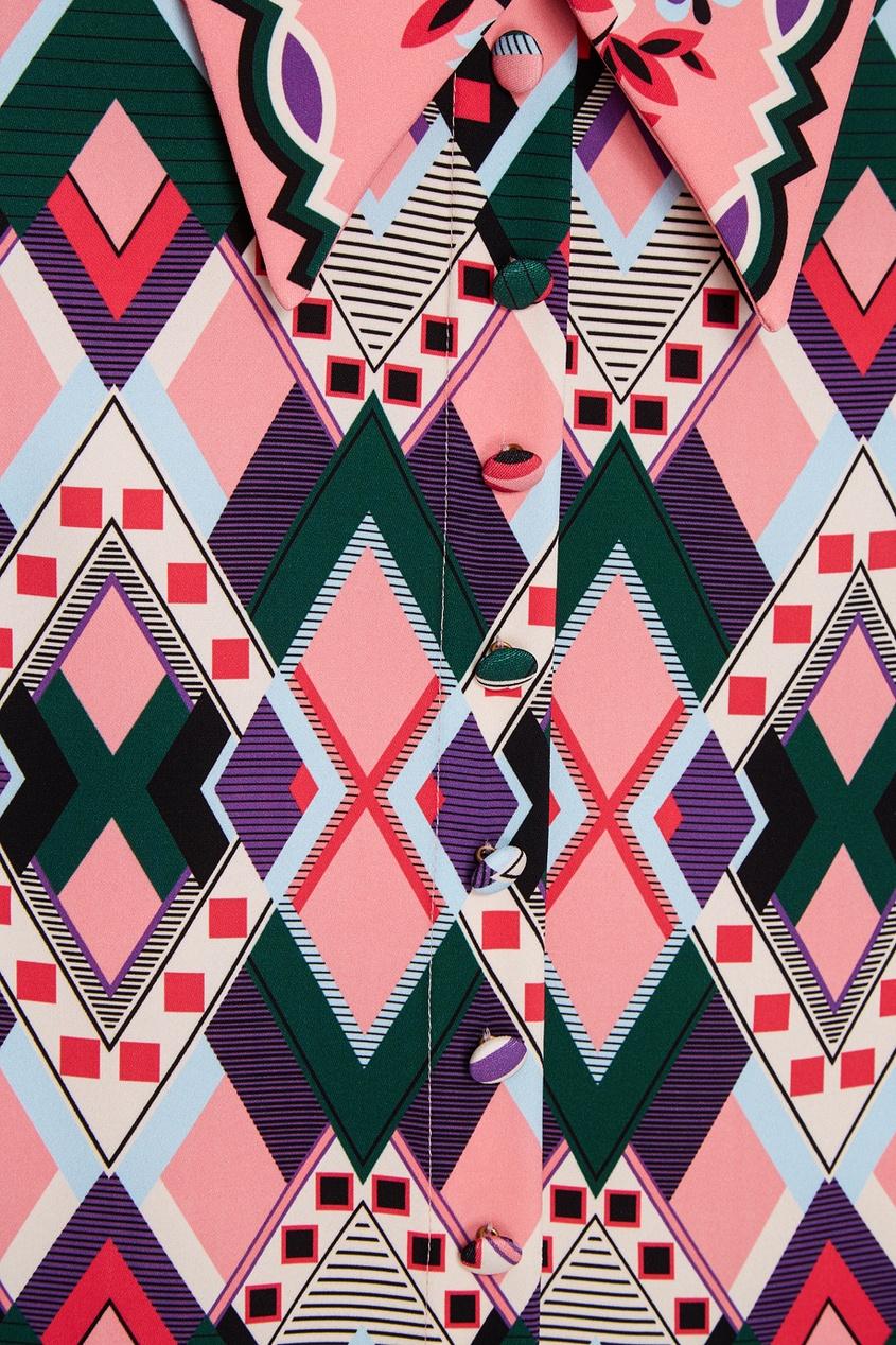 Блузка с геометрическим принтом