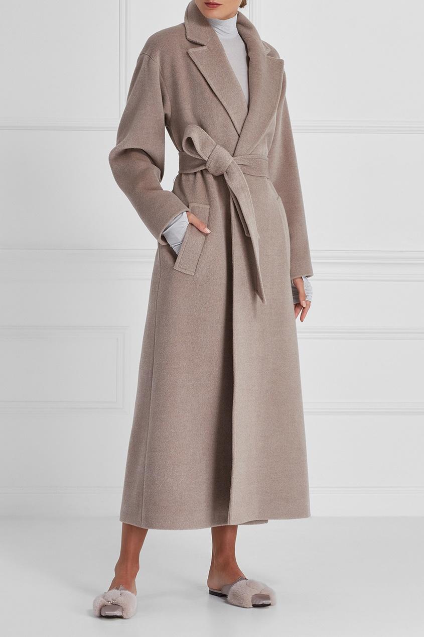 A LA RUSSE Пальто-макси из шерсти пальто из шерстяного драпа 70