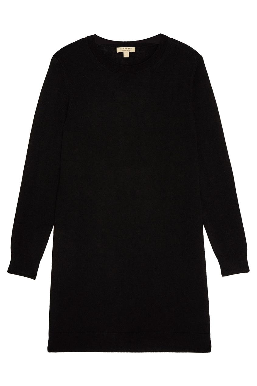 Трикотажное платье черное