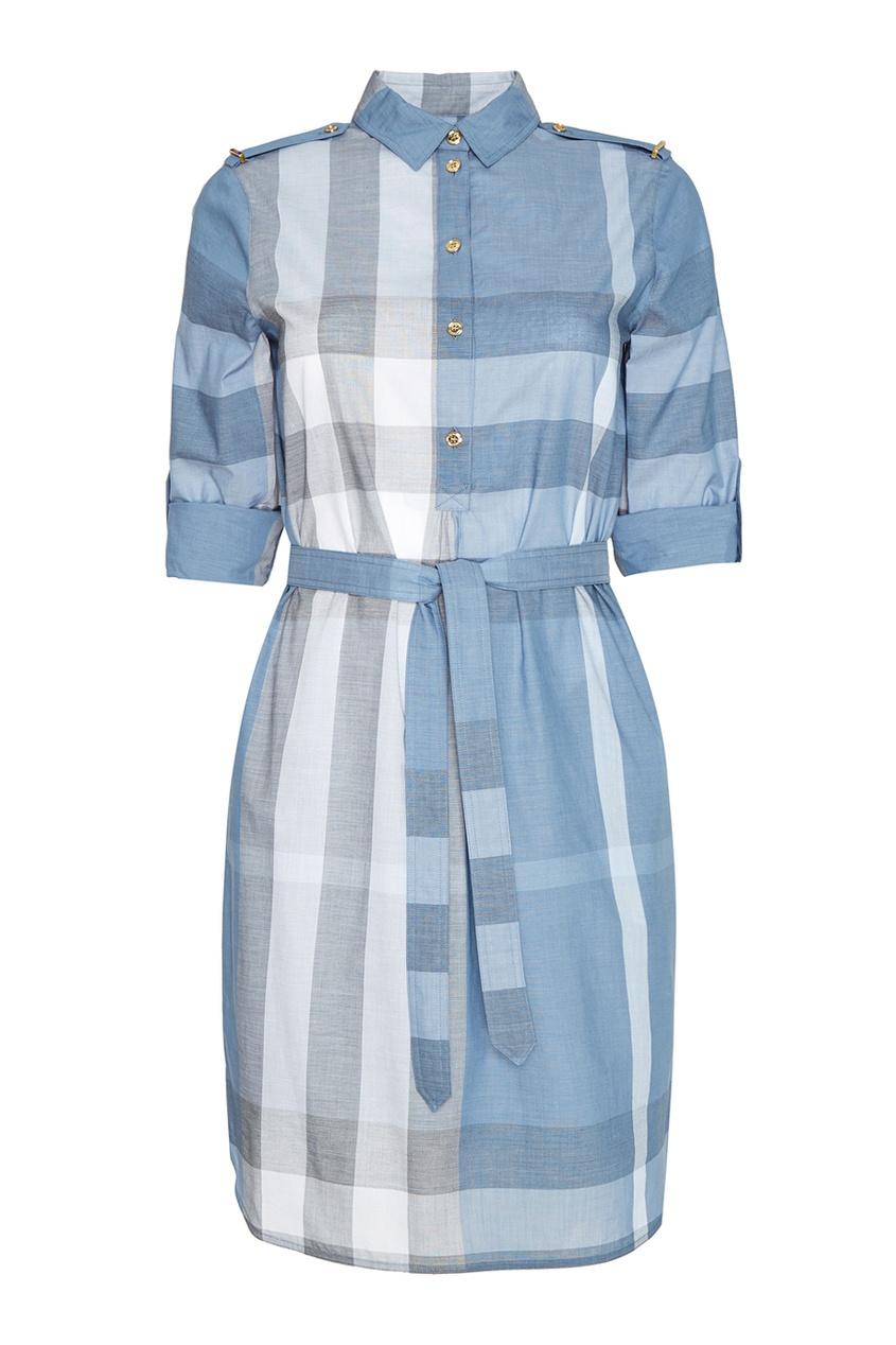 Burberry Хлопковое платье в клетку burberry кружевное платье