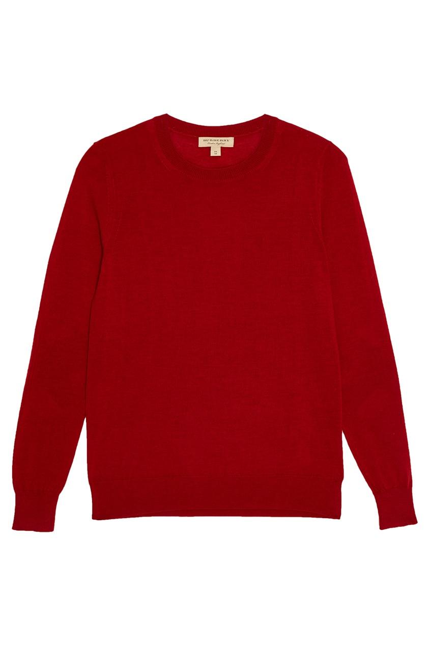 Джемпер из шерсти красный