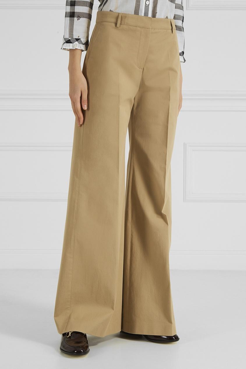 Широкие брюки из хлопка