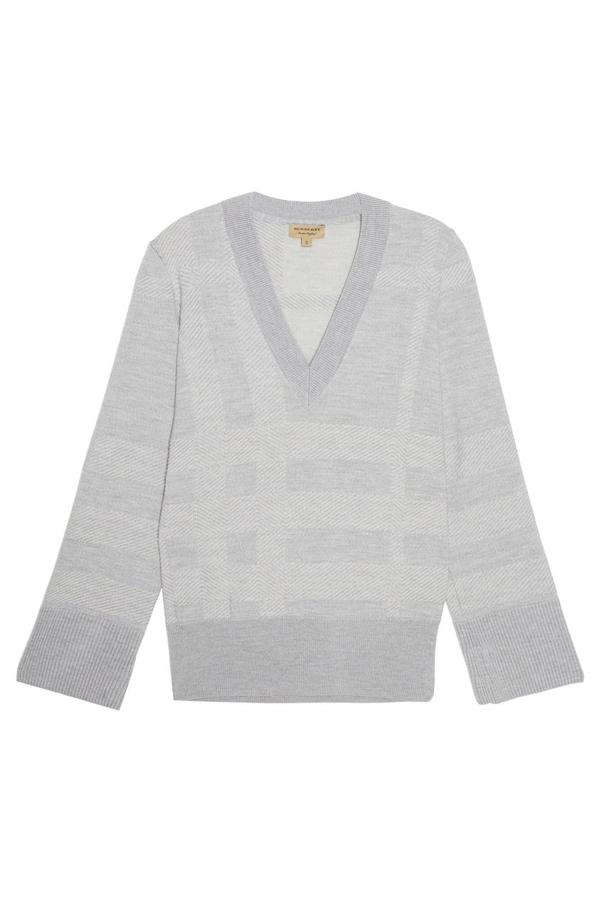 Пуловер с рельефную клетку