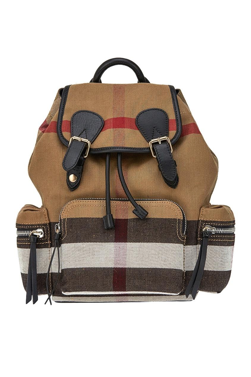 Burberry Текстильный рюкзак в клетку купить шарфы burberry в интернете