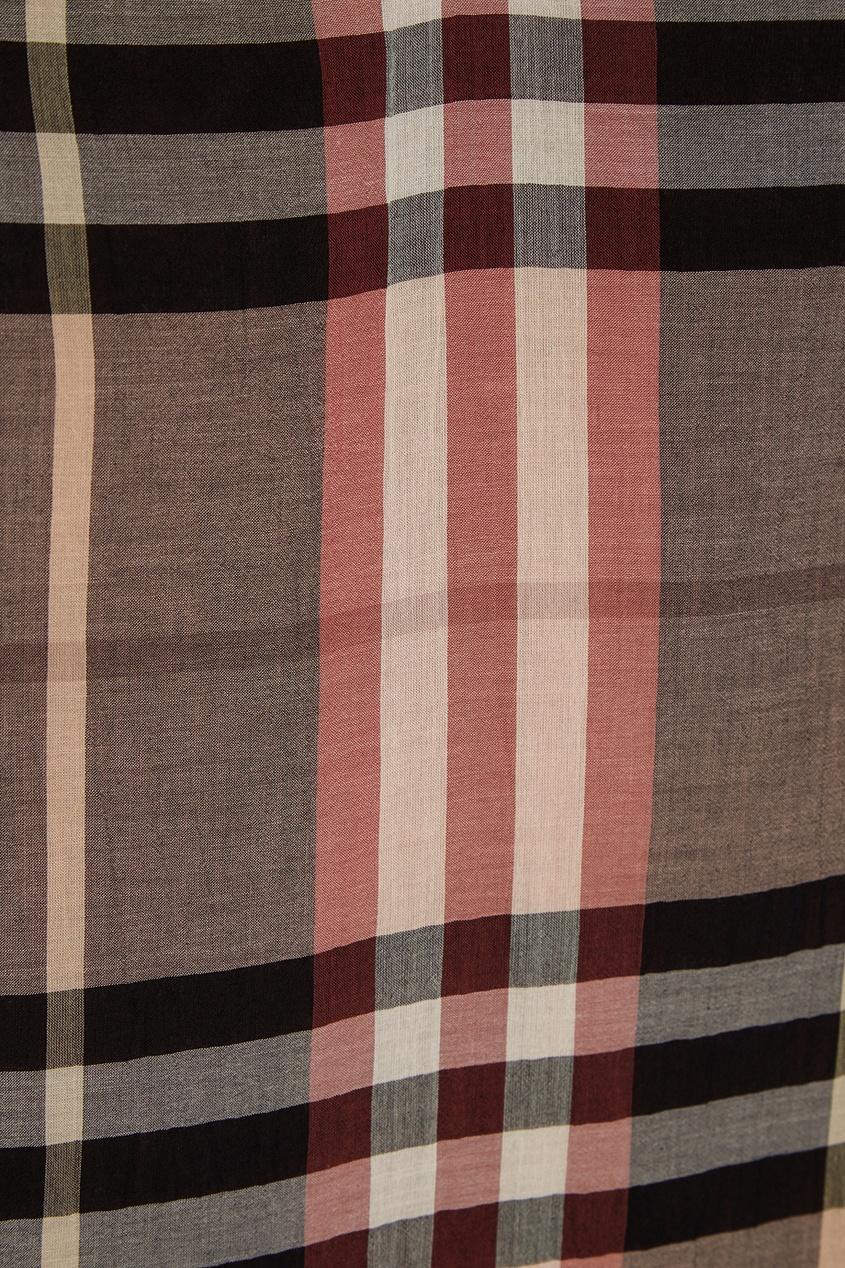 Burberry Хлопковое платье в клетку купить шарфы burberry в интернете