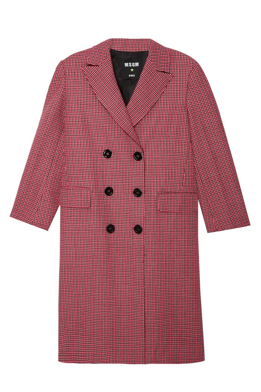MSGM Двубортное пальто в клетку orient une7004c
